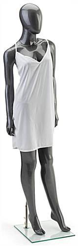 Silver Female Mannequin with Proportional Dimensions