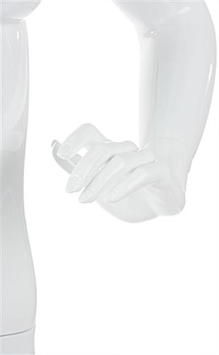 Abstract Female Fiberglass Mannequin with Fully Formed, Detailed Hands