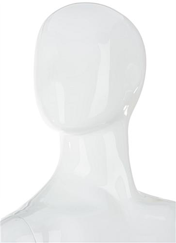 Abstract Female Fiberglass Mannequin With No Facial Detail