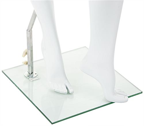Abstract Female Fiberglass Mannequin w/ Calf and Heel Rod Stabilizer