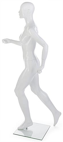 Female Running Mannequin with Calf or Sole Rod Options
