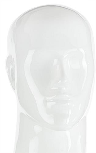 Muscular Male Mannequin with Abstract Facial Features