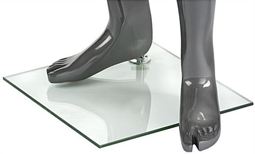Gray Male Mannequin with Accented Feet