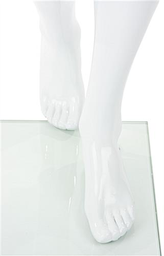 Abstract Male Fiberglass Mannequin w/ Fully Formed Feet