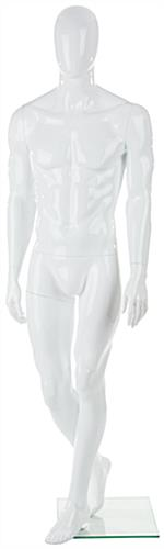 Abstract Male Fiberglass Mannequin With Posed Right Leg