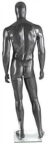 Pivoting Silver Male Mannequin
