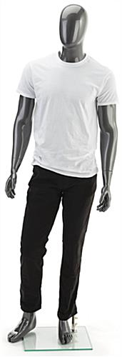 Full Body Silver Male Mannequin