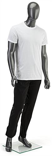 Proportional Silver Male Mannequin
