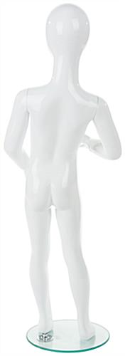 Abstract Child Mannequin w/ Glossy White Finish