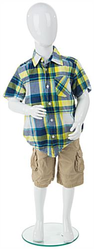 Abstract Child Mannequin w/ Heel Rod Stabilizer