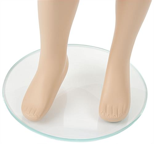 Realistic Child Mannequin with Semi Detailed Foot Features