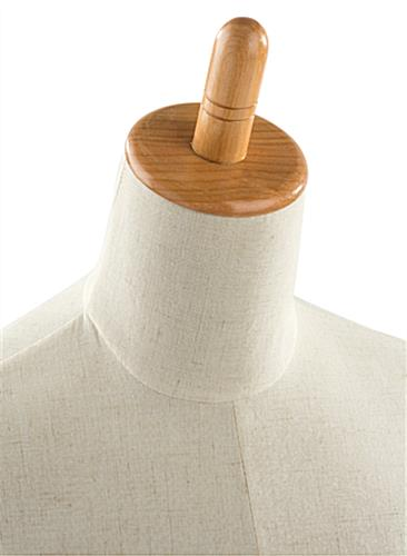 Dress Form Mannequin with Wooden Neck Block