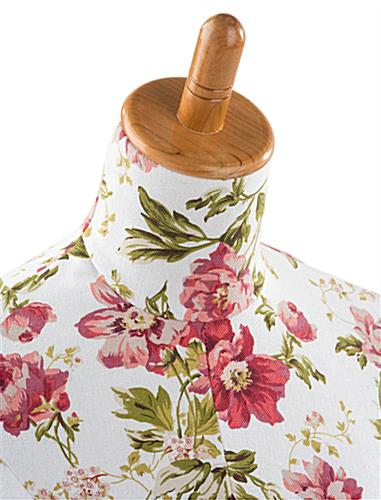 Floral Dress Form with Neck Block