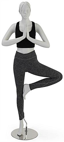 Matte White Yoga Mannequin with Molded Hair & Face