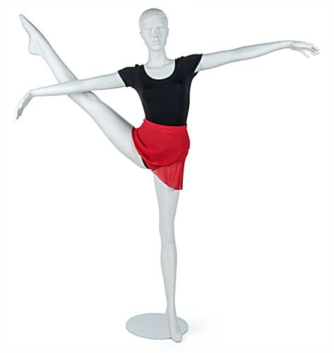Semi-Abstract Dancing Mannequin Propped in Dancing Outfit