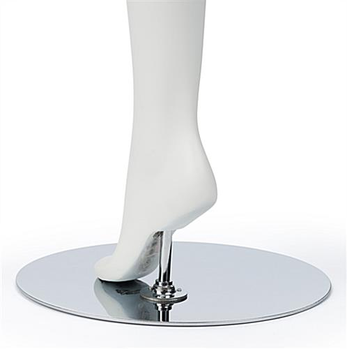 Semi-Abstract Dancing Mannequin Mounted on Heel Rod