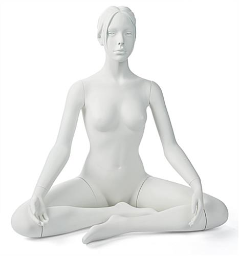 Front Shot of  Sitting Yoga Mannequin