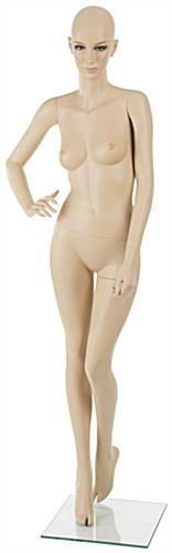 Fiberglass Female Mannequin w/ Tempered Glass Base