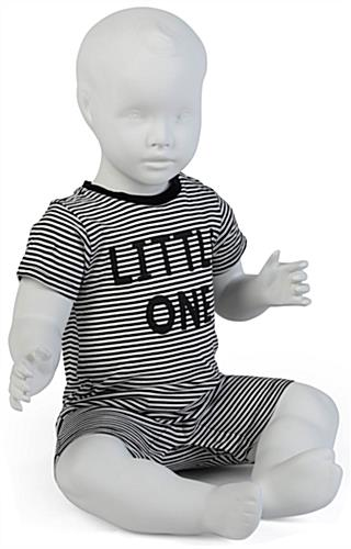 Propped Shot of Sitting Baby Mannequin