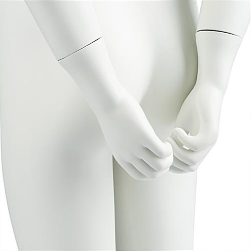 Detail of Semi-Abstract Girl Mannequin with Formed Hands