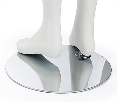 Detail of Semi-Abstract Girl Mannequin Heel Base