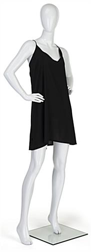 Adult female retail mannequin with removable base