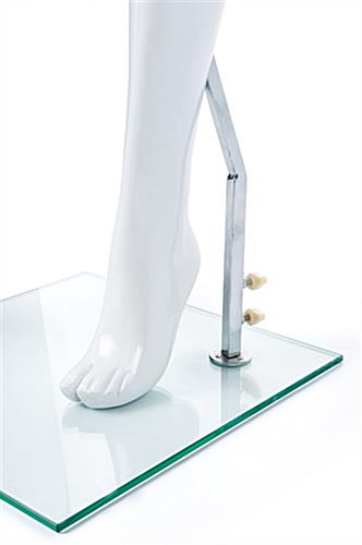 Adult female retail mannequin with calf and heel rod