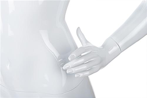 Adult female retail mannequin with fully formed hands