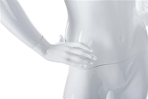 Adult female retail mannequin with detachable arms