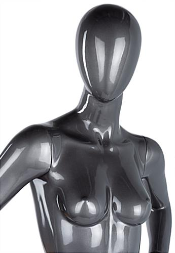 Gray female abstract mannequin for retail