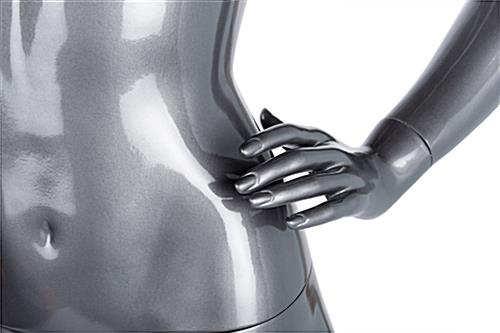 Gray female abstract mannequin with seperated fingers