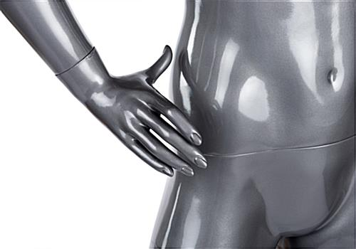 Size 2 gray female abstract mannequin