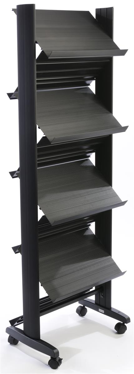 Displays2go 8-Pocket Literature Stand for Floor, Open She...