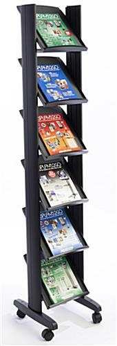 Black Magazine Stand with Injection-Molded Plastic