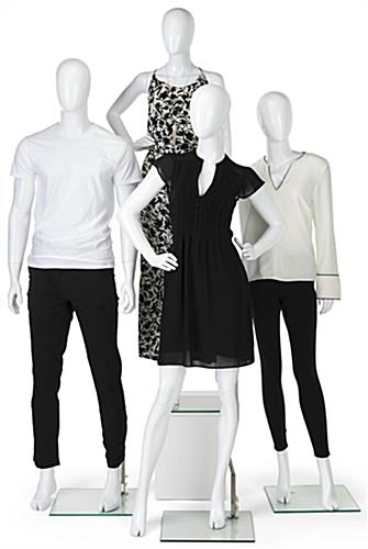 Glossy White Adult Female Retail Mannequin