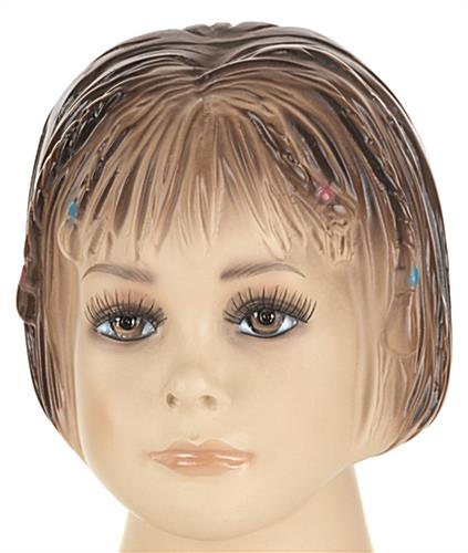 Girl Mannequin with Painted Facial Features