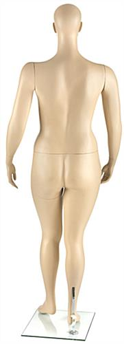 Plus Size Mannequin with Calf & Heel Rods