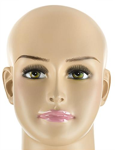 Plus Size Mannequin with Painted Facial Features