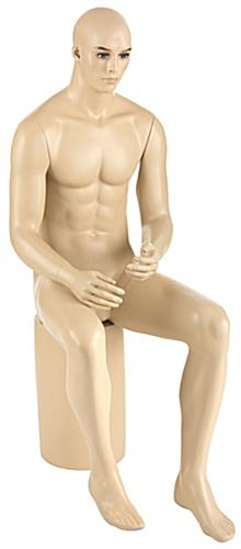Realistic Seated Male Mannequin