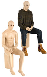 Full Body Seated Male Mannequin