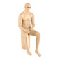 Seated Male Mannequin with Fair Skin Tone