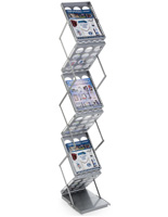 Silver Portable Literature Holder