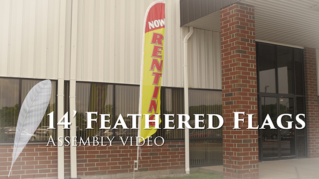 <p>These 14' pre-printed feather flags tower over the rest and are a smart addition for your business. The assembly is simple and quick, making your advertising visible in mere minutes. Watch this video for setup instructions and immediately attract attention to your establishment!</p>