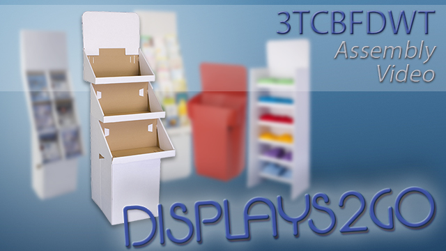 <p> While cardboard can be a challenge to build, this bin display uses minimal pieces and interchangeable tiers to simplify the process! Following some simple steps, assembly can take only a matter of minutes and can be done by one person. The shelves can be used on any tier, preventing confusion and frustration as you build the unit. Once complete, simply attach the header on the top for additional promotion of your merchandise! </p>