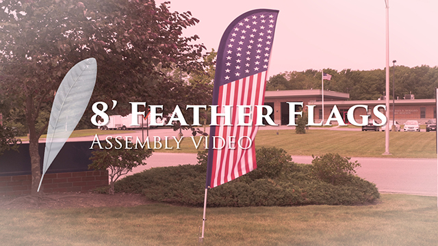 <p>With stock messaging, these 8' pre-printed feather flags flutter and catch attention. The assembly couldn't be easier, allowing advertising to be visible in a few short minutes. Watch this video for instructions and immediately start attracting attention with efficient marketing!</p>