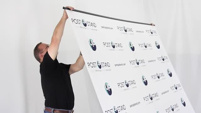 A brief instructional video on how to assemble your new retractable backdrop display from Post Up Stand.