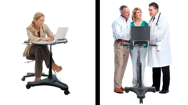 Feature Demo: ADTMWSB2 Mobile Standing Desk