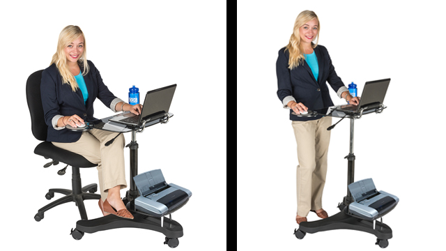 Feature Demo: ADTMWSD4 Sit to Stand Rolling Workstation