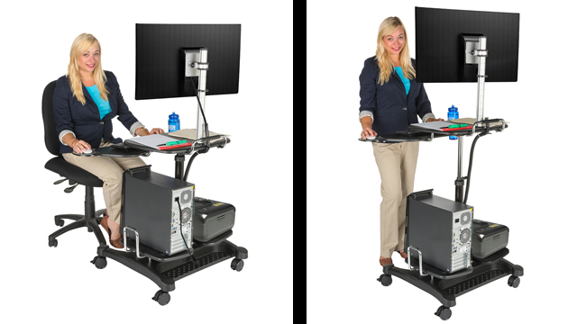 Feature Demo: ADTMWSE5 Stand Up Mobile Workstation