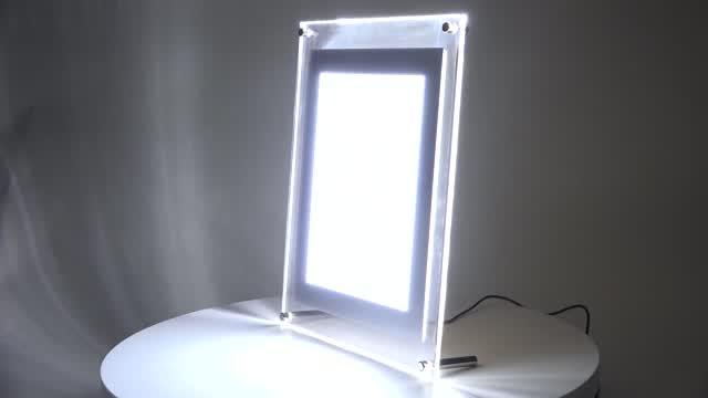 Backlit lenticular poster frame